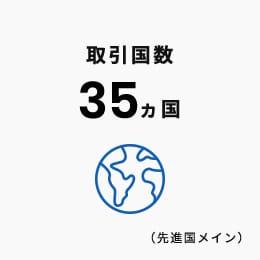 取引国数 35ヵ国(先進国メイン)